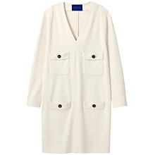 Buy Winser London Crepe Jersey Parisian Dress, Ivory Online at johnlewis.com