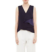 Buy Ted Baker Mayye Asymmetric Fold Top, Navy Online at johnlewis.com