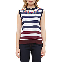 Buy Ted Baker Sophai Rowing Stripe Woven Front Sleeveless Jumper, Navy Online at johnlewis.com