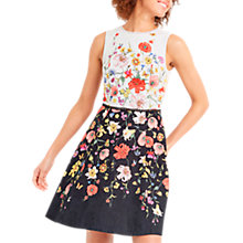 Buy Oasis Daffodil Skater Dress, Multi Online at johnlewis.com