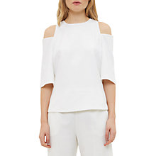 Buy Ted Baker Careo Cut Out Shoulder Top, Ecru Online at johnlewis.com