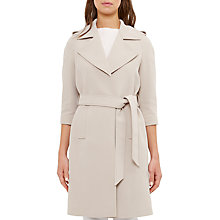 Buy Ted Baker Caila Long Trench Coat, Taupe Online at johnlewis.com