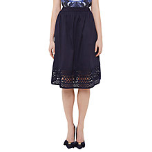 Buy Ted Baker Abygail Contrast Trim Skirt, Navy Online at johnlewis.com
