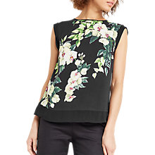 Buy Oasis Botanical Print Sleeveless Top, Multi Online at johnlewis.com