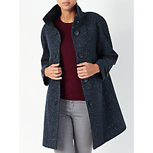 Buy John Lewis Janet Swing Textured Coat, Navy Online at johnlewis.com