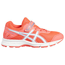 Buy Asics Children's Pre-Galaxy 9 PS Riptape Laced Trainers, Pink/White Online at johnlewis.com