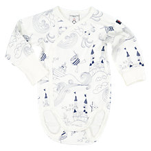 Buy Polarn O. Pyret Baby Sea Life Bodysuit, White Online at johnlewis.com