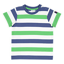 Buy Polarn O. Pyret Baby GOTS cotton Striped T-Shirt Online at johnlewis.com