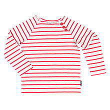 Buy Polarn O. Pyret Children's Striped Top, Red Online at johnlewis.com