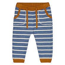 Buy John Lewis Baby Artroom Knitted Stripe Trousers, Blue Online at johnlewis.com