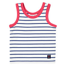 Buy Polarn O. Pyret Baby Striped Vest, Blue Online at johnlewis.com