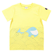 Buy Polarn O. Pyret Children's GOTS Cotton Whale T-Shirt, Yellow Online at johnlewis.com