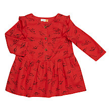 Buy John Lewis Baby Artroom Twill Dress, Red Online at johnlewis.com