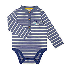 Buy John Lewis Baby Dog Stripe Bodysuit, Navy Online at johnlewis.com