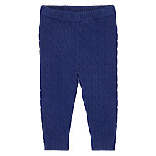 Buy John Lewis Baby Cable Knit Leggings, Navy Online at johnlewis.com