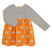 Buy John Lewis Baby Striped Hedgehog Skater Dress, Multi Online at johnlewis.com