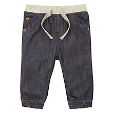 Buy John Lewis Baby Ribbed Waist Jeans, Blue Online at johnlewis.com