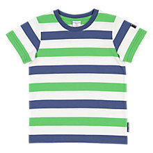 Buy Polarn O. Pyret Children's Striped T-Shirt, Green/Blue Online at johnlewis.com