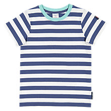 Buy Polarn O. Pyret Boys' GOTS cotton Striped T-Shirt, Blue Online at johnlewis.com