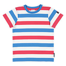 Buy Polarn O. Pyret Children's Striped T-Shirt, Blue/Red Online at johnlewis.com