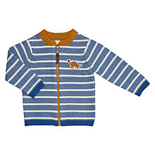 Buy John Lewis Baby Artroom Dinosaur Striped Bomber Jacket, Blue Online at johnlewis.com