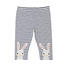 Buy John Lewis Baby Bunny Stripe Leggings, Blue/White Online at johnlewis.com