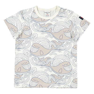 Polarn O. Pyret Baby Whale T-Shirt, White