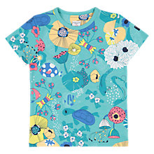 Buy Polarn O. Pyret Children's Sea Print T-Shirt, Blue Online at johnlewis.com