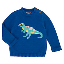 Buy John Lewis Baby Artroom Dino Jumper, Blue Online at johnlewis.com