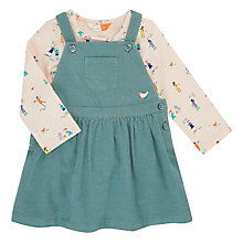 Buy John Lewis Baby Bird Pinafore and People Print Top, Green Online at johnlewis.com