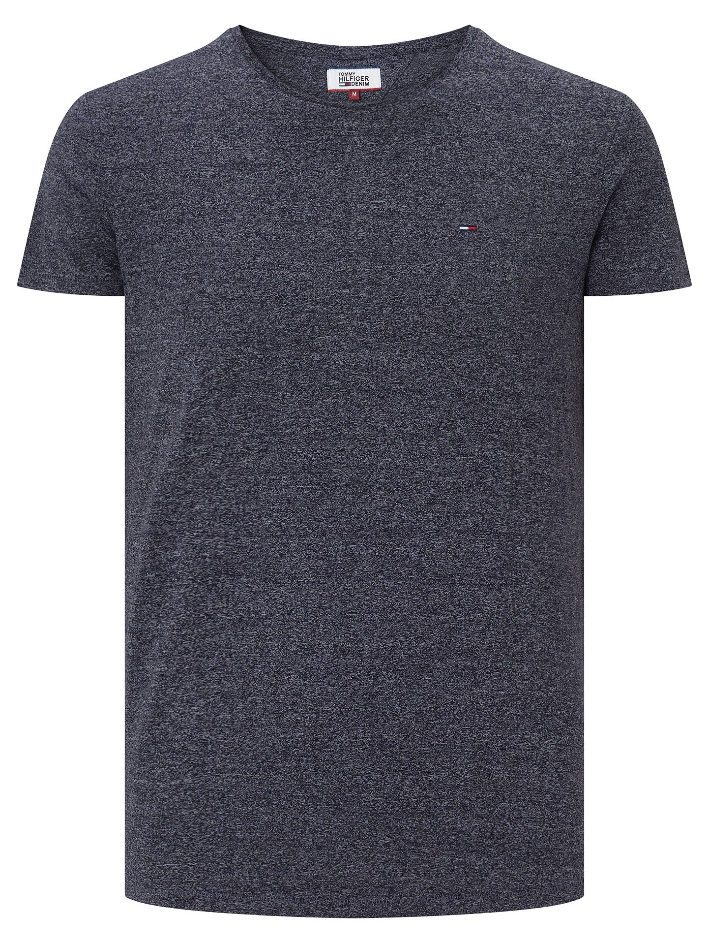 Buy Tommy Jeans Basic Crew Neck T-Shirt, Vulcan, S Online at johnlewis.com