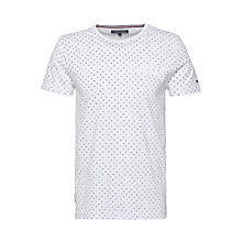 Buy Tommy Hilfger Kyle Print Crew Neck T-Shirt, Classic White Online at johnlewis.com