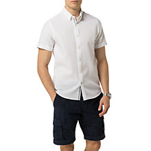 Buy Tommy Hilfiger Dobby Short Sleeve Shirt, Bright White Online at johnlewis.com