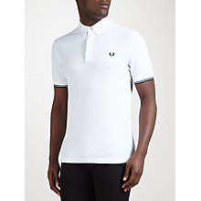 Buy Fred Perry Woven Collar Piqué Polo Shirt Online at johnlewis.com