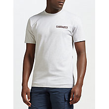 Buy Carhartt WIP Short Sleeve College Script T-Shirt, Ash Heather Online at johnlewis.com