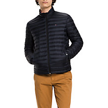 Buy Tommy Hilfiger Packable Down Bomber Jacket, Sky Captain Online at johnlewis.com