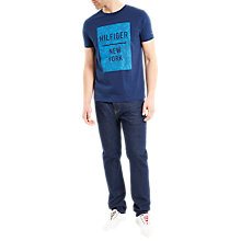 Buy Tommy Hilfiger Baxter T-Shirt, Medieval Blue Online at johnlewis.com