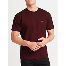 Buy Carhartt WIP Chase T-Shirt, Burgundy Online at johnlewis.com