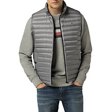 Buy Tommy Hilfiger Lightweight Packable Gilet, Silver Online at johnlewis.com