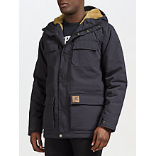 Buy Carhartt WIP Mentley Parka Jacket, Navy Online at johnlewis.com