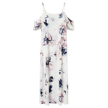 Buy Minimum Biba Floral Print Dress, White Online at johnlewis.com