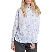 Buy Barbour Heritage Amanda Marble Print Shirt, White Online at johnlewis.com