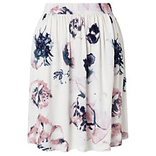 Buy Minimum Rosea Floral Print Skirt, White Online at johnlewis.com