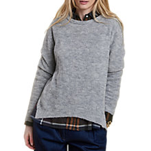 Buy Barbour Heritage Edith Jumper, Grey Marl Online at johnlewis.com