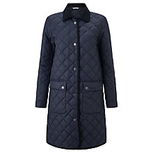 Buy Barbour Heritage Quilted Border Jacket, Navy Online at johnlewis.com