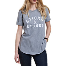 Buy Barbour Heritage Eleanor T-Shirt, Grey Marl Online at johnlewis.com