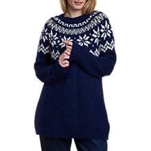 Buy Barbour Heritage Harriet Chunky Knit Jumper, Deep Blue Online at johnlewis.com