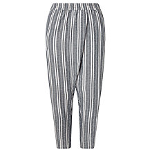 Buy Minimum Mica Stripe Trousers, Maritime Blue Online at johnlewis.com