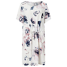 Buy Minimum Janett Floral Print Dress, White Online at johnlewis.com