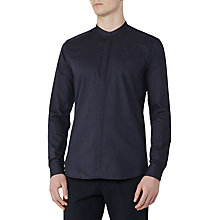 Buy Reiss Franco Slim Grandad Collar Shirt, Navy Online at johnlewis.com